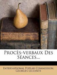 Procès-verbaux Des Séances...