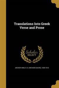 TRANSLATIONS INTO GREEK VERSE