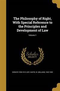 PHILOSOPHY OF RIGHT W/SPECIAL