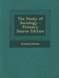 The Study of Sociology