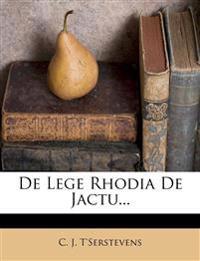 De Lege Rhodia De Jactu...