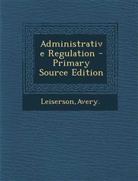 Administrative Regulation