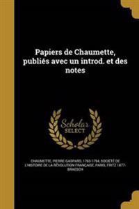 FRE-PAPIERS DE CHAUMETTE PUBLI