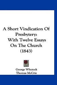 A Short Vindication of Presbytery