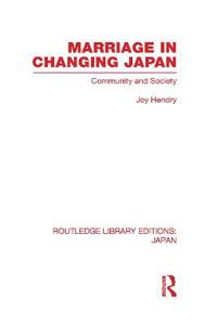 Marriage in Changing Japan