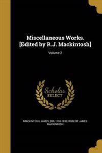 MISC WORKS EDITED BY RJ MACKIN