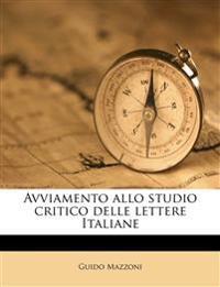 Avviamento allo studio critico delle lettere Italiane