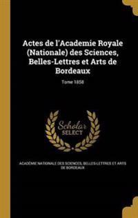 FRE-ACTES DE LACADEMIE ROYALE