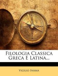 Filologia Classica Greca E Latina...
