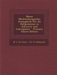 Neues Mecklenburgisches Gesangbuch Fur Die Hofgemeinen in Schwerin Und Ludwigslust. - Primary Source Edition