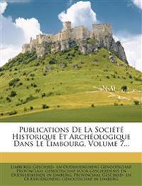 Publications De La Société Historique Et Archéologique Dans Le Limbourg, Volume 7...