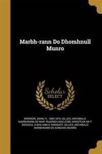 MARBH-RANN DO DHOMHNULL MUNRO