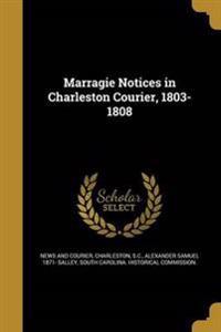 MARRAGIE NOTICES IN CHARLESTON