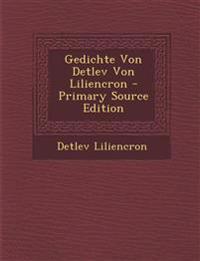 Gedichte Von Detlev Von Liliencron