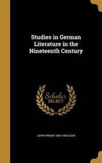 STUDIES IN GERMAN LITERATURE I