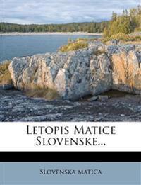 Letopis Matice Slovenske...