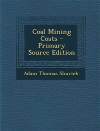Coal Mining Costs