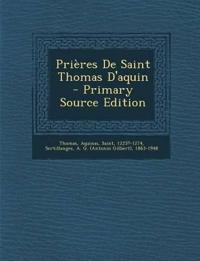 Prières De Saint Thomas D'aquin
