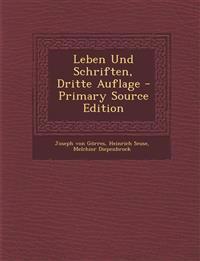 Leben Und Schriften, Dritte Auflage - Primary Source Edition