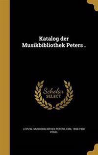GER-KATALOG DER MUSIKBIBLIOTHE