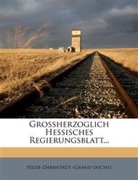Grossherzoglich.hessisches Regierungsblatt auf das Jahr 1854