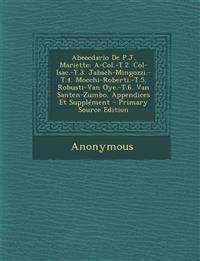 Abecedario De P.J. Mariette: A-Col.-T.2. Col-Isac.-T.3. Jabach-Mingozzi.-T.4. Mocchi-Roberti.-T.5. Robusti-Van Oye.-T.6. Van Santen-Zumbo. Appendices