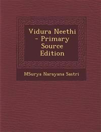 Vidura Neethi - Primary Source Edition