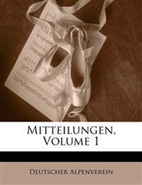 Mitteilungen, Ertser Band