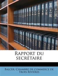 Rapport du secrétaire