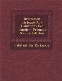 Invitation Sérieuse Aux Habitants Des Illinois