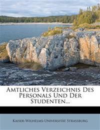 Amtliches Verzeichnis Des Personals Und Der Studenten...