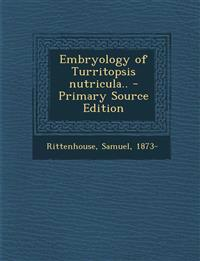 Embryology of Turritopsis nutricula..
