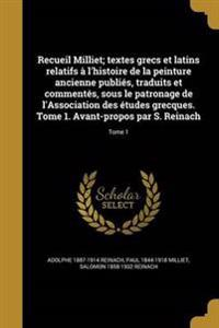 FRE-RECUEIL MILLIET TEXTES GRE