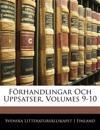 Förhandlingar Och Uppsatser, Volumes 9-10