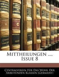 Mittheilungen des Centralvereins für das Wohl der arbeitenden Klassen. Erste Lieferung. Ausgegeben am 25. August 1848.