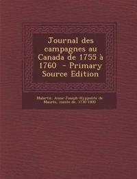 Journal des campagnes au Canada de 1755 à 1760