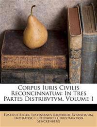 Corpus Iuris Civilis Reconcinnatum: In Tres Partes Distribvtvm, Volume 1