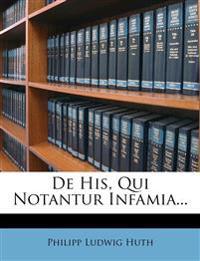 De His, Qui Notantur Infamia...