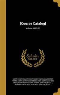 COURSE CATALOG VOLUME 1965/66