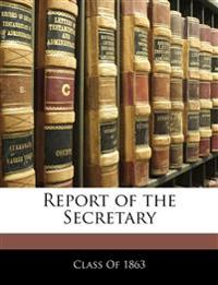 Report of the Secretary