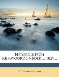 Nederduitsch Rijmwoorden-boek ... 1829...