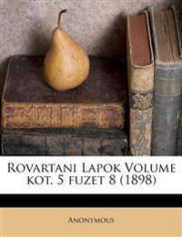 Rovartani Lapok Volume kot. 5 fuzet 8 (1898)