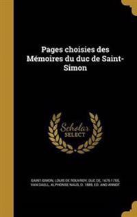 FRE-PAGES CHOISIES DES MEMOIRE