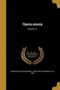 LAT-OPERA OMNIA VOLUMEN 11