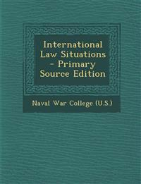 International Law Situations - Primary Source Edition