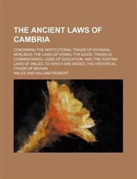 The Ancient Laws of Cambria; Containing the Institutional Triads of Dyvnwal Moelmud, the Laws of Howel the Good, Triadical Commentaries, Code of Educa