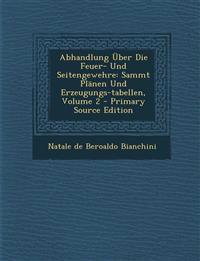 Abhandlung Über Die Feuer- Und Seitengewehre: Sammt Plänen Und Erzeugungs-tabellen, Volume 2