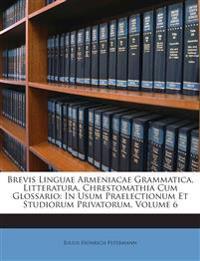 Brevis Linguae Armeniacae Grammatica, Litteratura, Chrestomathia Cum Glossario: In Usum Praelectionum Et Studiorum Privatorum, Volume 6