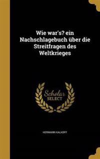 GER-WIE WARS EIN NACHSCHLAGEBU