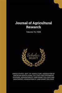 JOURNAL OF AGRICULTURAL RESEAR